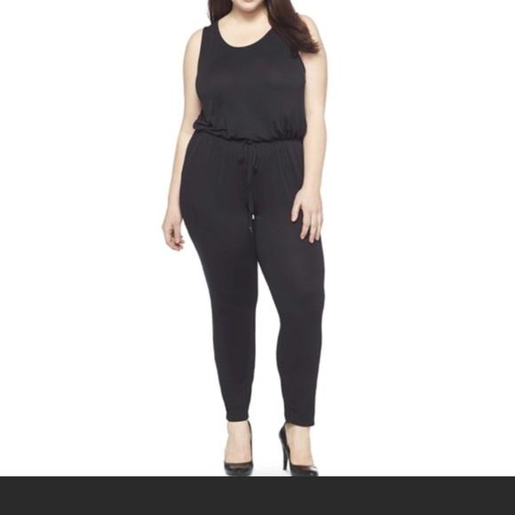 Ava Viv Pants Ava Viv Black Plus Size Jumpsuit Romper Sz 1x